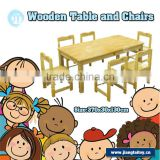 JT-2309 preschool kindergarten cheap six seats children wooden study party table and chairs set