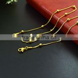 dubai new gold chain latest design beads necklace                                                                                                         Supplier's Choice