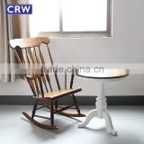 RCH-1523 Top Quality Antique Windsor Chair Solid Wood Rocking Armchair                                                                         Quality Choice
