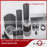 Customized Ceramic Ferrite Permanent Magnet Br 4300Gs Hcj 4400Oe BH 4.6MGOe