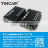 optical fiber audio converter/transmitter FC with data RS485