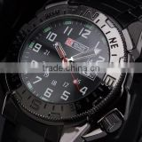 MR004 New Classic Swiss Design Mens Man Black Face Army Military Sport Watch