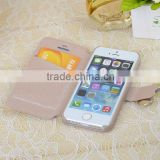 Book style leather case for iPhone 4 /4s/5/5s diamond phone case