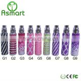 2013 hottest sale and newest crystal diamond design eGo-G battery colored smoke electronic cigarette eGo-G battery
