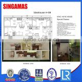 40hc China Coffee Shop Container House For Sale