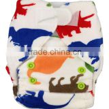 Hot Sell New 2014 Reusable Washable Bamboo AIO Newborn Personalized Cloth Diapers With Double Leg Gussets