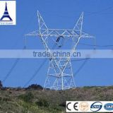Galvanized tall towers supporting power cables