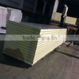 75mm Thickness PU Foam Sandwich wall panel, wall sandwich panel price for refrigerating room