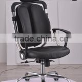 Newest Design Modern Metal Frame Office Furniture Ergonomic Swivel Leather High Back Executive Office Chair