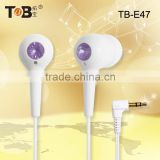 2015 Mobie phone accessories factory in China fashionable In-ear diamond earphones/earbuds