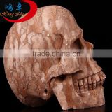 fossil wood quartz crystal skull for sale hand carved crystal skull carving for home decoration