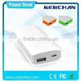 Portable mobile external battery usb power bank 5600mah, portable genset battery charger