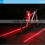 Newest Design 200mw Thick Laser 8LED Rechargeable Bike Led Bicycle Rear Light