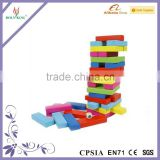 Wooden Colorful Jenga Game Toy