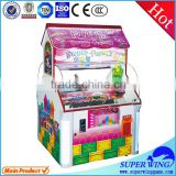 Popular sugar mini claw crane vending game machines for sale