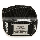 custom id nylon bracelet engrave id metal nylon id band