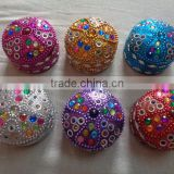 handmade lac beaded small jewellery boxes