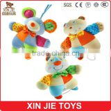 custom cute animal type pull string baby musical hanging plush toy                                                                         Quality Choice