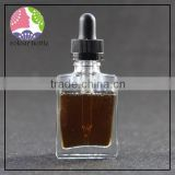 trade assurance clear square glass dropper bottle with 15ml 30ml for e-juice glasss dropper bottle with paper packing tube