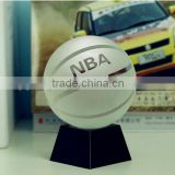 Sports trophy Decoration Crystal Basketball with base for table decoration