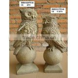 Animal ornaments garden owl sculpture for sale