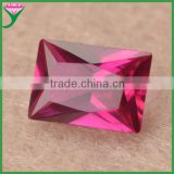 wholesale 5# loose baguette rectangle cut lab created red ruby