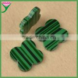 wholesale prices rough slices four leaf clover real natural green malachite for necklace