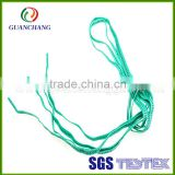 Custom wholesale polyester fabric textile plain colors reflective flat shoe laces with clear plastic tips