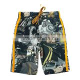(D2709) WHITE 18M-6Y Toddler wear boys racers car collection printed casual comfortable shorts