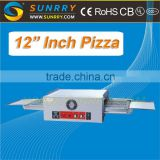 "Guangzhou hot sale energy saving 12"" Pizza electric bakery conveyor belt pizza oven prices used for bakery equipment"