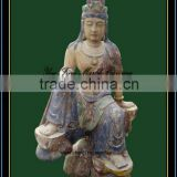 Antique Wood Carving Sculpture, Buddha Statue