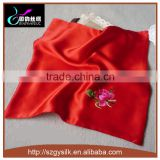 Double Layer Hand Embroidery Lady Silk Handkerchief
