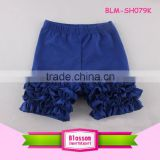 Wholesale children boutique clothing baby boxers triple icing ruffles baby shorts