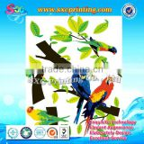 Chinese characteristic wall decor stickers with lively birds and vitality trees , tree wall sticker