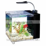 Handmade square clear LED acrylic aquarium tank manufacturers,large acrylic fish tank with foot