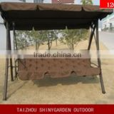 outdoor garden canopy swing bed, swing bed with canopy cushion, reclining outdoor swing chair