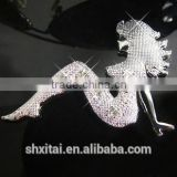 Auto decoration 3D Diamond Beauty motorcycle adhesive animated metal car stickers Decals
