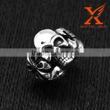 In Stock 2016 NEW Men's Punk Stainless Steel Ring Band Silver Black Skull Hand Bone Gothic Cheap Antique Jewellery Rings for Man