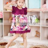 hot product ready made cotton purple ruffle dress beautiful cute baby girl party dress