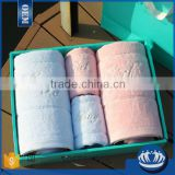 Promotional luxury embroidered gift towel set in gift box                                                                         Quality Choice
