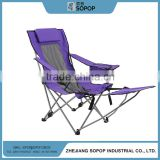 Cheap And High Quality OEM steel tube metal sling chair folding deck chair canvas