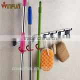 Multi-function Wall Rack Household Good Helper Wall Mounted Plastic Mop And Broom Holder/ swab holder/swabber