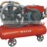 W3118 diesel portable air compressor match with jack hammer