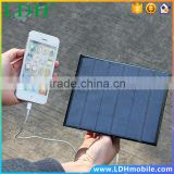 Portable 6v 3w 580-600MA Smart solar panel USB Solar Battery Charger For iPhone PDA Smart Phone MP3 MP4 Outdoor Travel