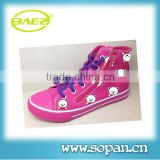 Girls canvas vulcanized shoes with new fashion design