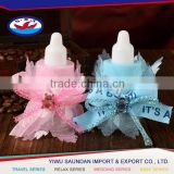 European styles plastic baby bottles favors made in china