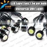 Hot wholesale price 3w led eagle eye for cars 100% waterproof day running lights with 5 colors