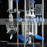 Jacketed Chemical Glass Reactor 100L, Borosilicate Glass 3.3, Teflon Valve