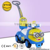 Hot sale Minions baby swing car high quality ride on push baby toy car