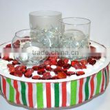 Clear Flat Marbles Decorative Glass Beads Vase Gems